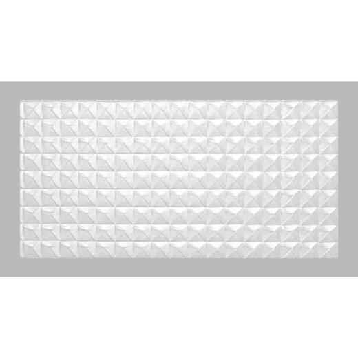 Parkland Performance SpectraTile Millennium 2 Ft. x 4 Ft. White PVC Diamond Pyramid Suspended Ceiling Tile