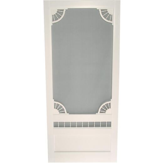 Snavely Kimberly Bay Dakota 32 In. W. x 80 In. H. x 1 In. Thick White Vinyl Screen Door