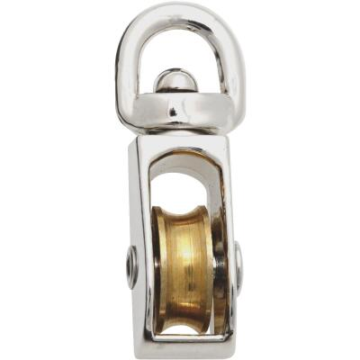 National 1/2 In. O.D. Single Swivel Eye No-Rust Rope Pulley