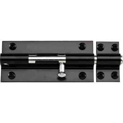 National 8 In. Black Extra Heavy-Duty Door Barrel Bolt
