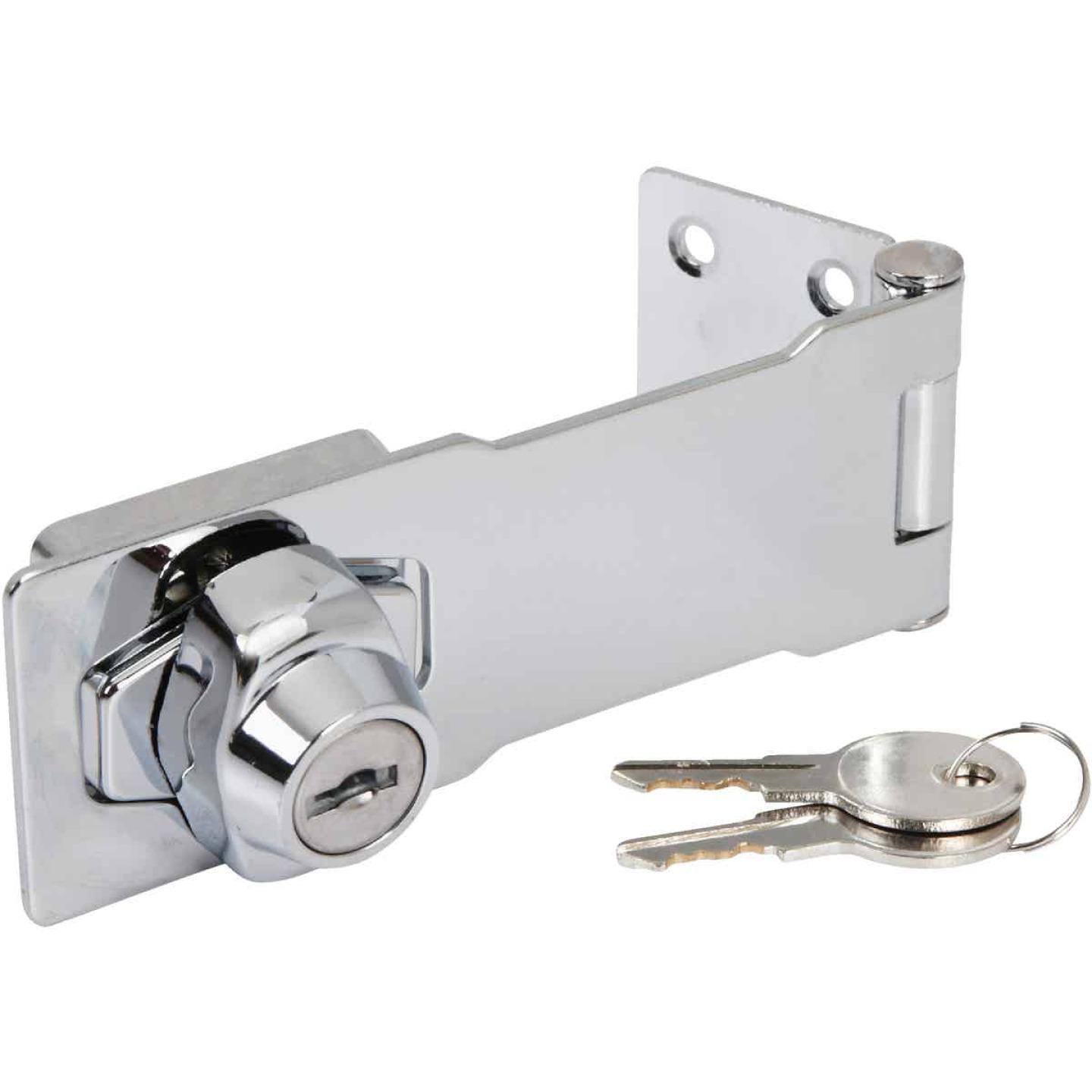 National 4-1/2 In. Keyed Alike Hasp Lock Image 3