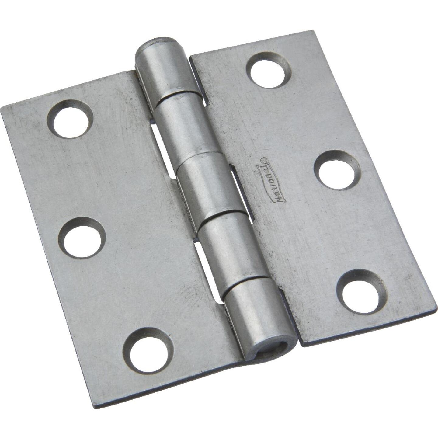 National 2-1/2 In. Square Plain Steel Broad Door Hinge Image 1