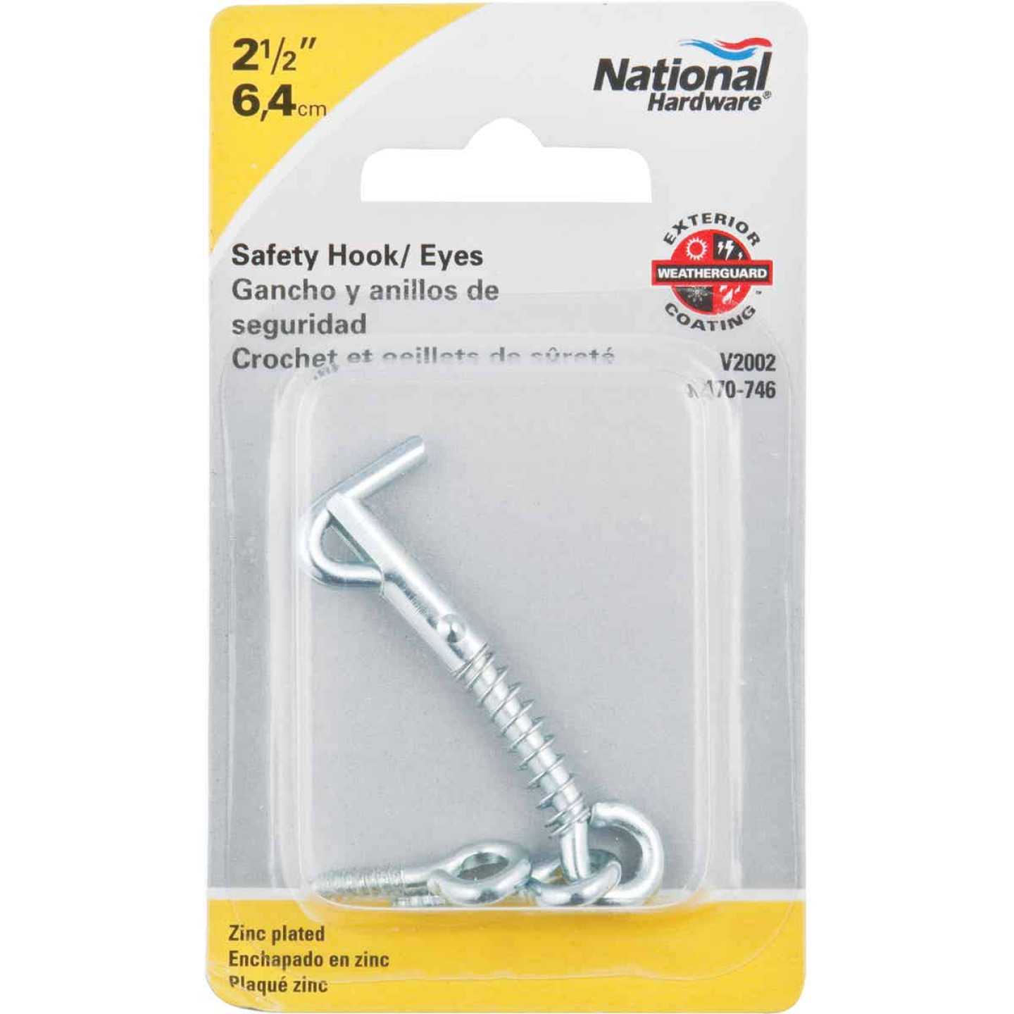 National Steel 2-1/2 In. Safety Gate Hook & Eye Bolt Image 2