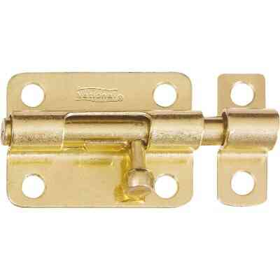 National 3 In. Brass Steel Door Barrel Bolt