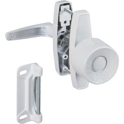 National White Knob Latch