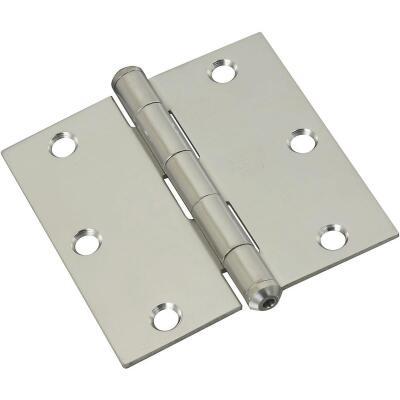 National 3-1/2 In. Square Stainless Steel Door Hinge