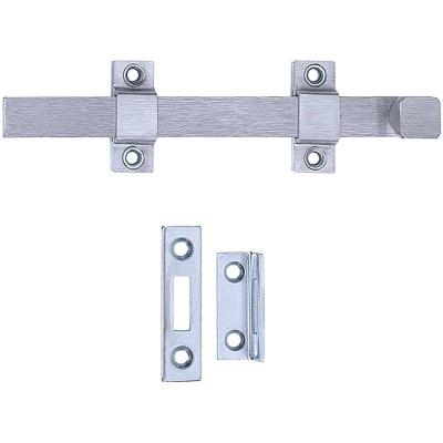 Tell Commercial 8 In. Satin Chrome Door Surface Bolt