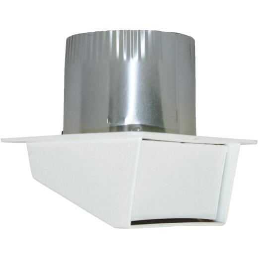 Builders Best 4 In. White Plastic Eave & Soffit Vent
