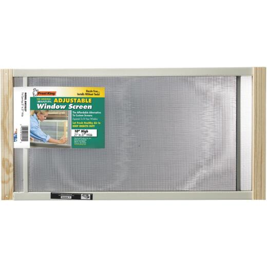 W.B. Marvin 10 In. x 21-37 in. Adjustable Window Screens by Frost King