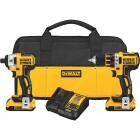 DeWalt 2-Tool 20V MAX XR Lithium-Ion Brushless Drill/Driver & Impact Driver Cordless Tool Combo Kit Image 1