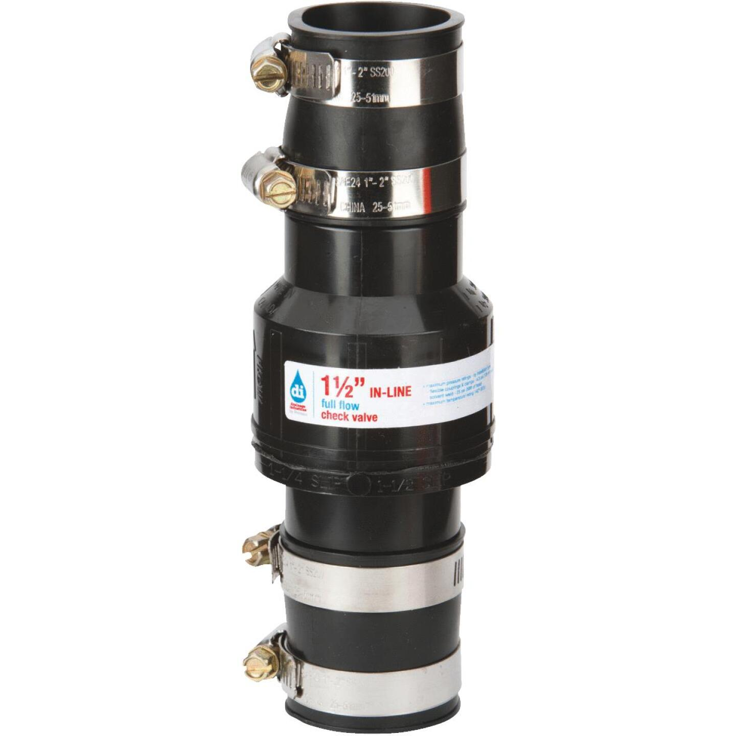 Drainage Industries 1-1/2 In. ABS Thermoplastic In-Line Sump Pump Check Valve Image 1