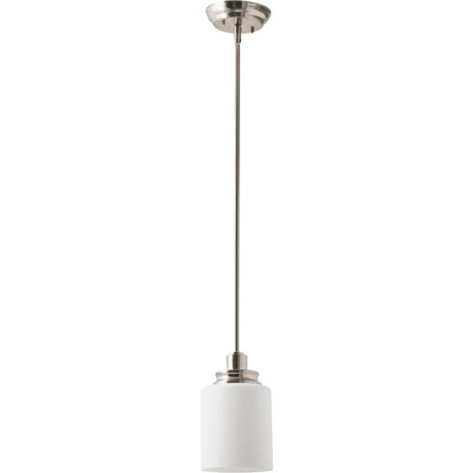 Home Impressions Crawford 1-Bulb Brushed Nickel Incandescent Pendant Light Fixture