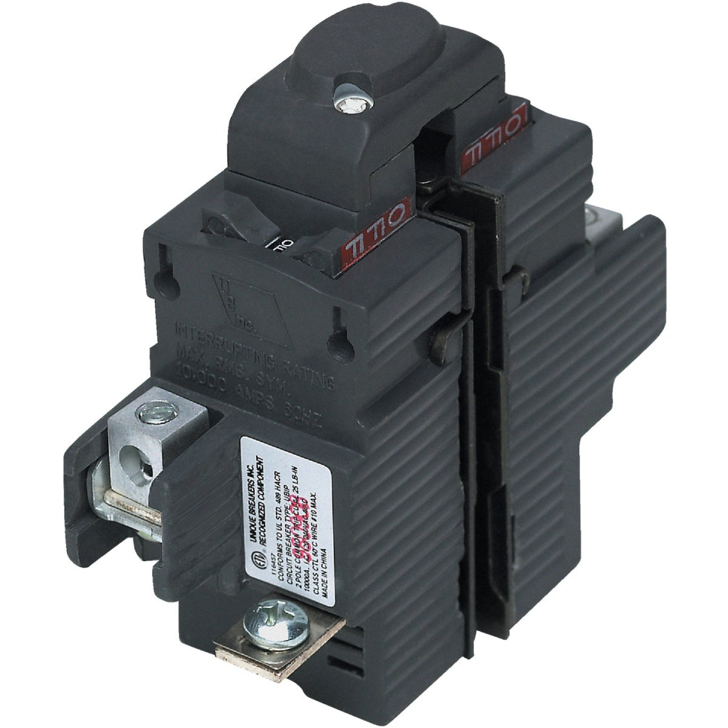 Connecticut Electric 20A Double-Pole Standard Trip Packaged Replacement Circuit Breaker For Pushmatic Image 1