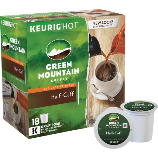 Keurig Green Mountain Coffee Half-Caff K Cup Pack (18-Pack)