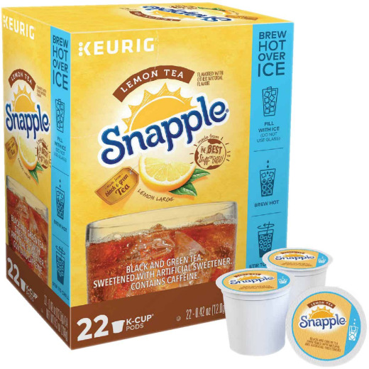 Keurig Snapple Lemon Hot or Iced Tea K-Cup (22-Pack)