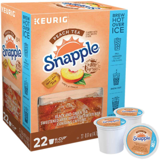 Keurig Snapple Peach Hot or Iced Tea K-Cup (22-Pack)