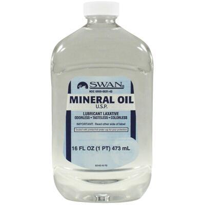 Swan 16 Oz. Tasteless Mineral Oil