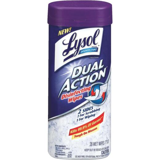 Lysol Dual Action Disinfecting Wipes (28 Count)