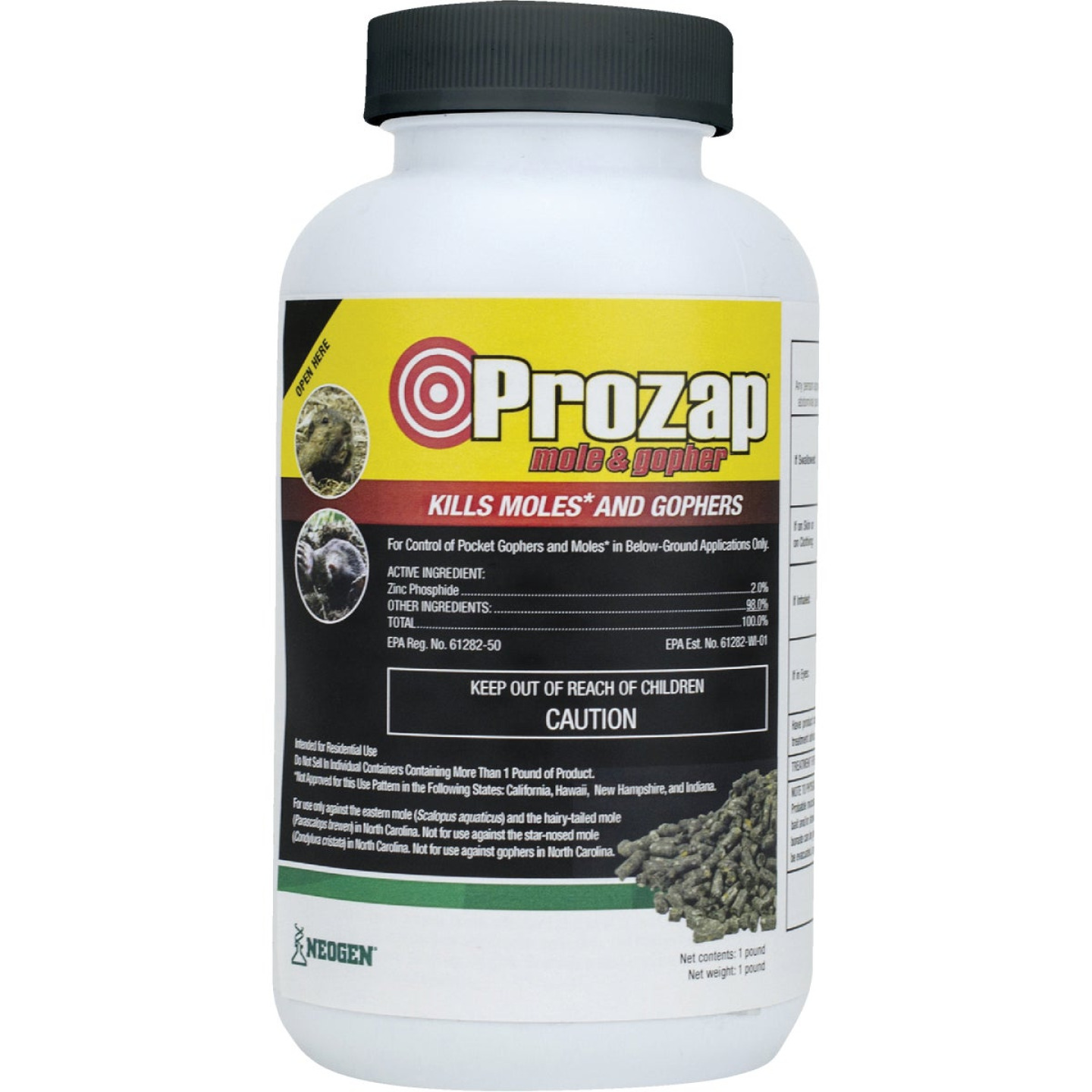 Prozap 1 Lb. Pellets Mole & Gopher Killer Bait Image 1
