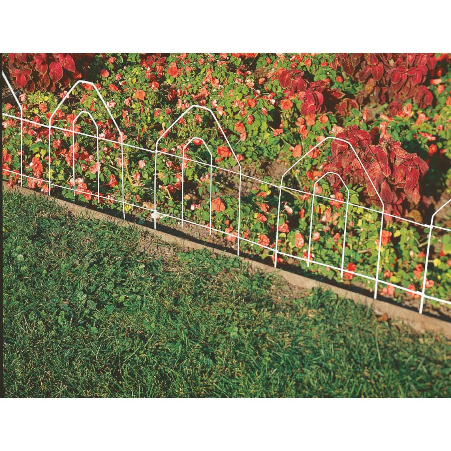 Best Garden 8 Ft. White Galvanized Wire Folding Fence Image 2