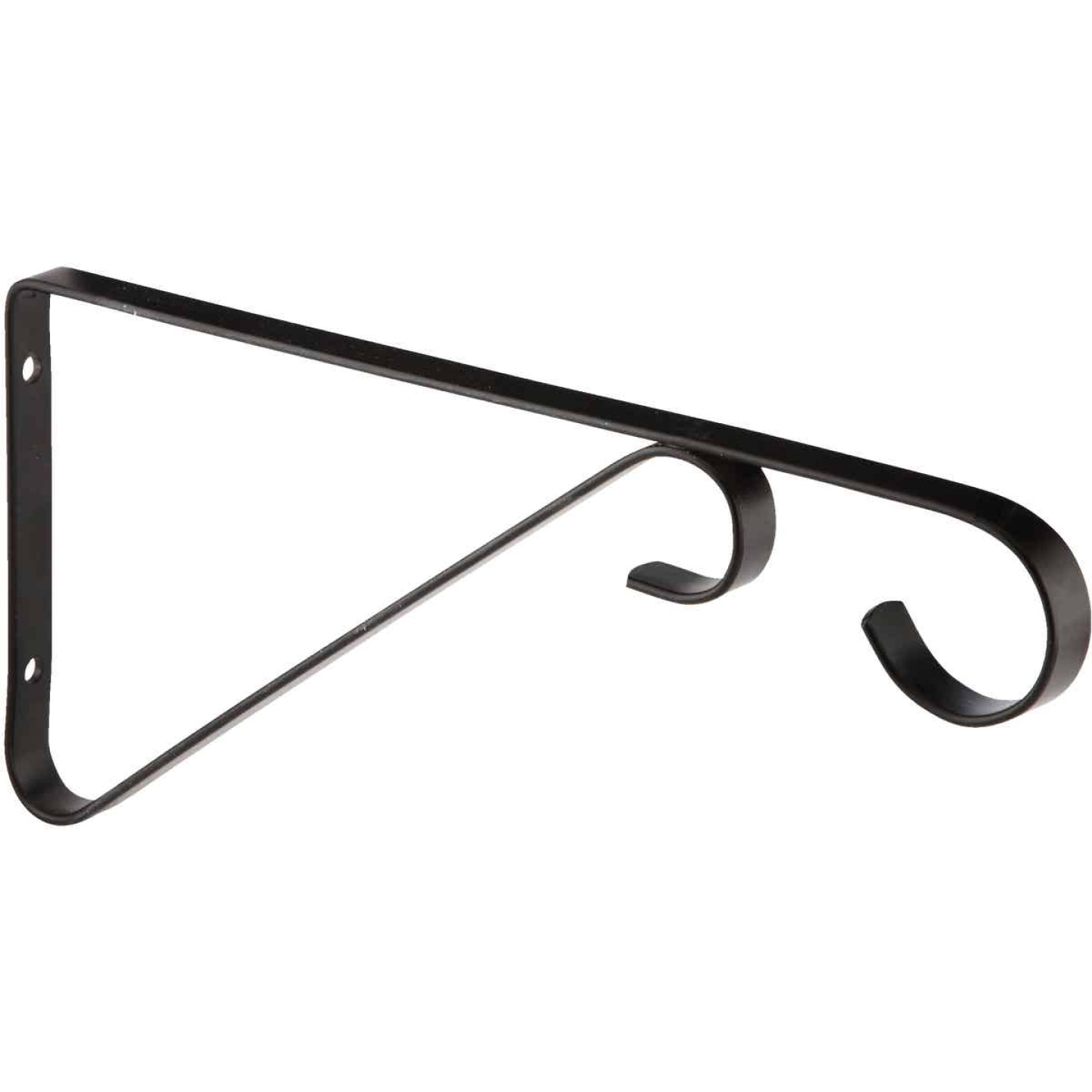 National 9 In. Black Steel Hanging Plant Bracket Image 4