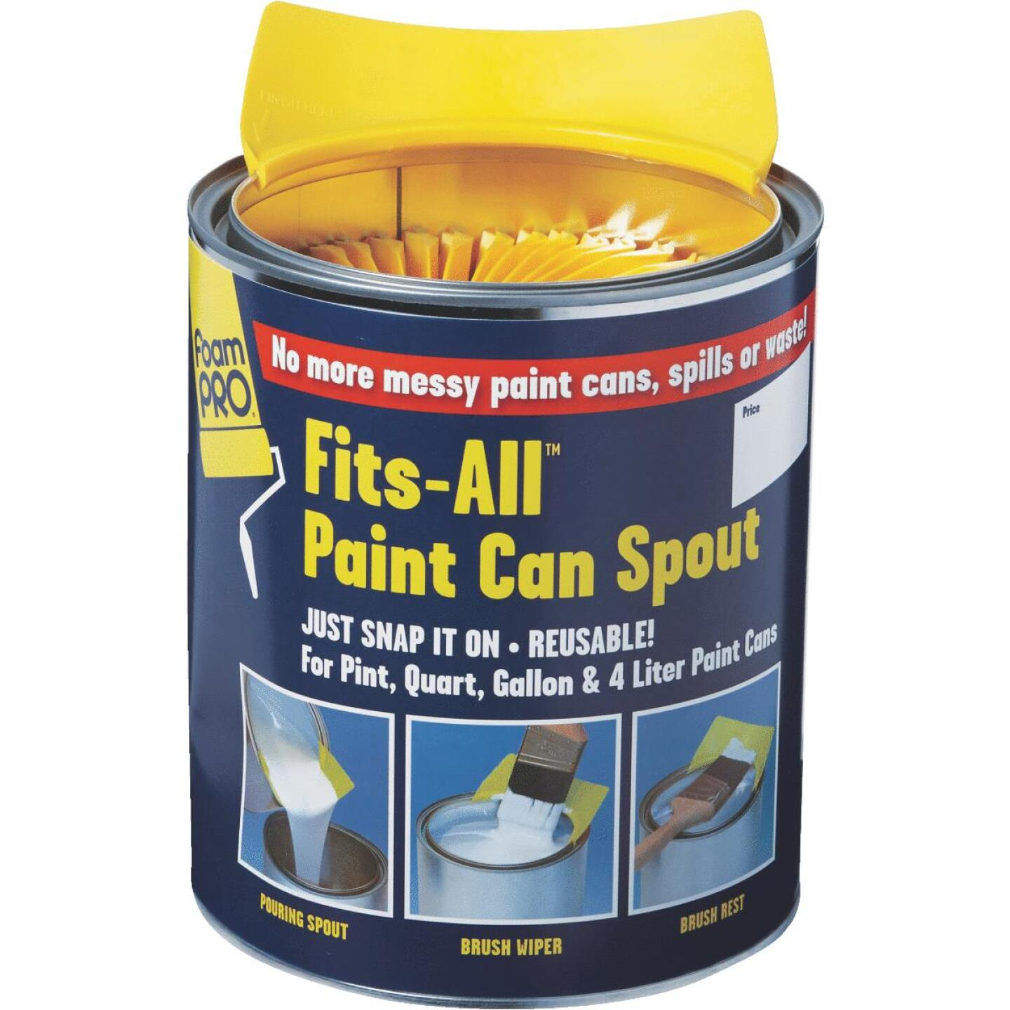 FoamPro Fits-All Snap-On Paint Can Pourer Image 3