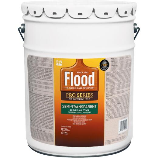 Flood Semi-Transparent Alkyd/Oil Wood Stain & Finish In One, Natural, 5 Gal.